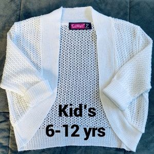 ✂️$5 Sweater Shrug Kid's 6-12 Yrs
